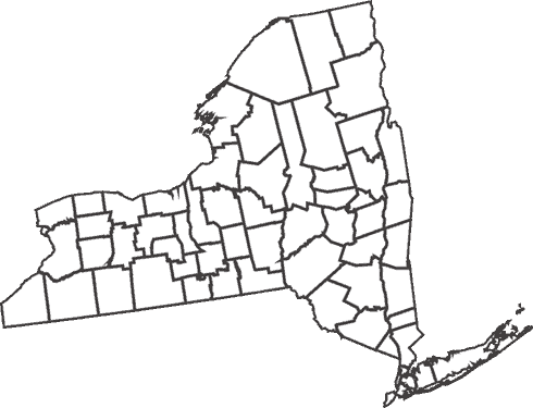 New York State County Lines