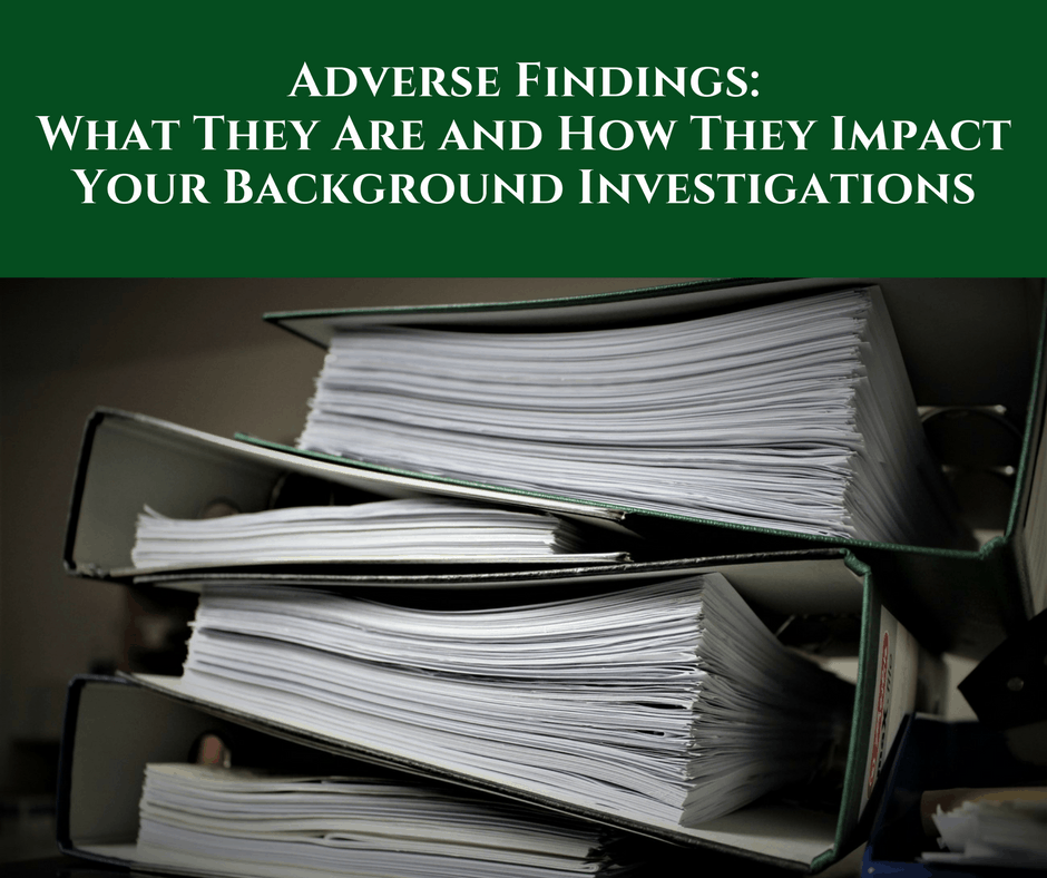 Adverse Findings