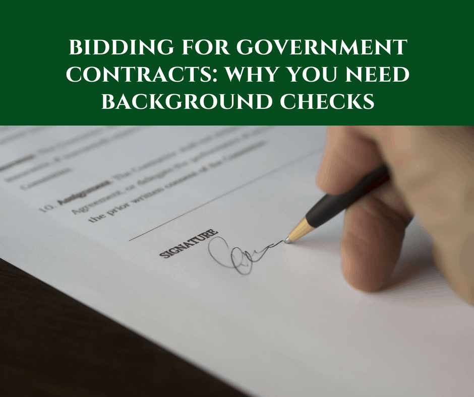 Bidding for government contracts