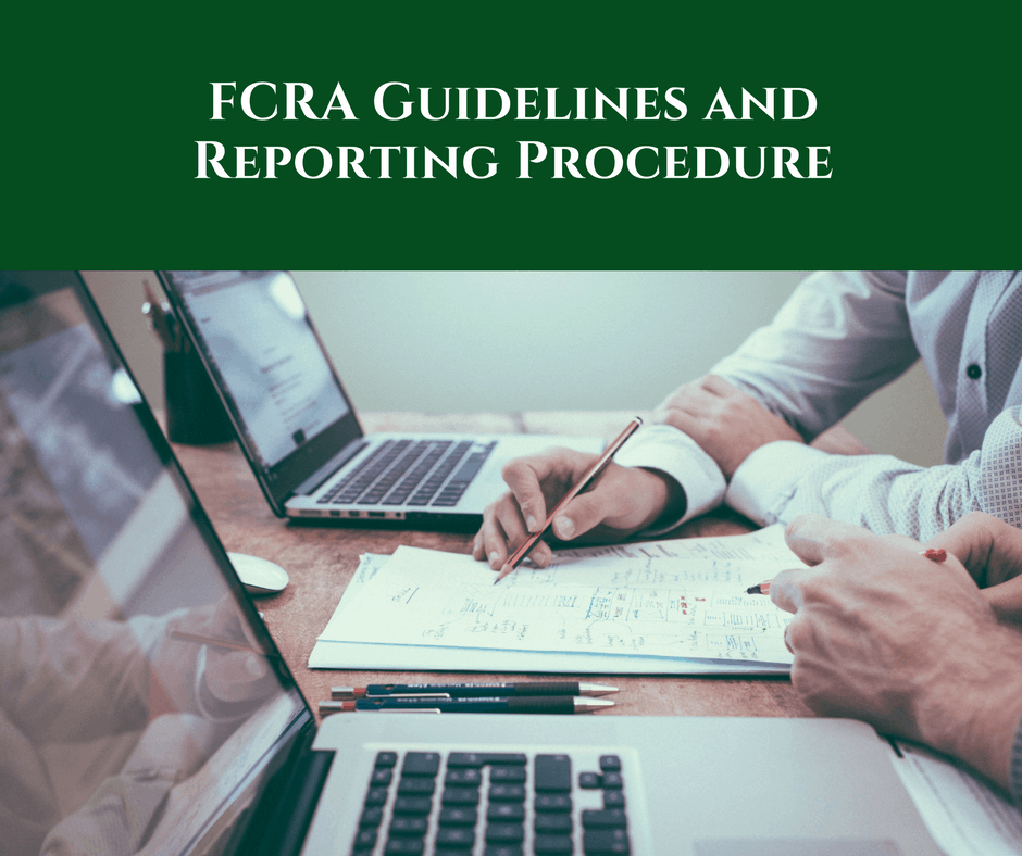 FCRA Guidelines and Reporting Procedure