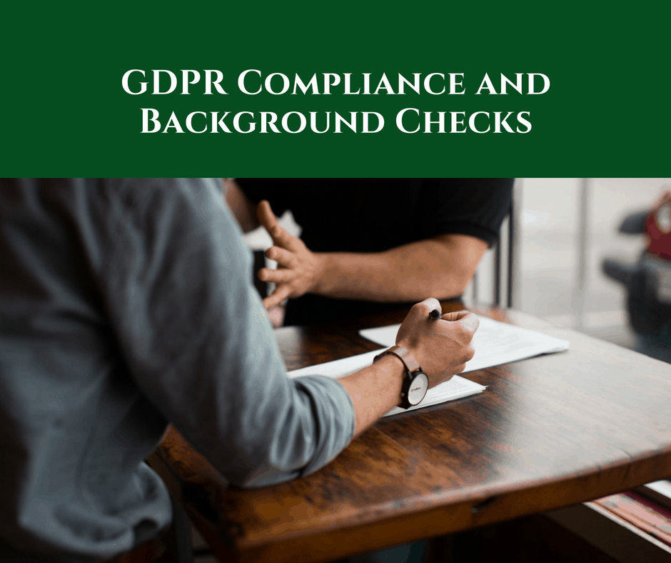 GDPR Compliance and Background Checks