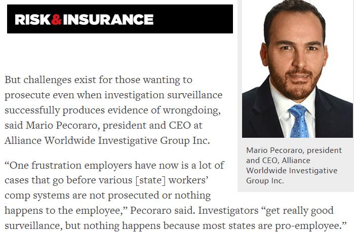 Mario featured in Risk & Insurance Magazine