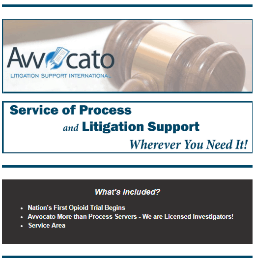 Service of Process and Litigation Support